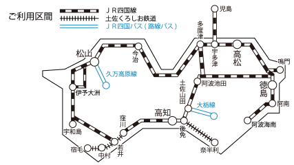 JR四国管内図